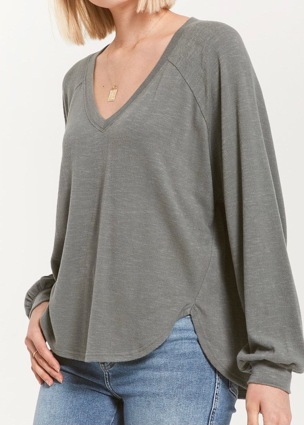 Plira Sweater Slub V-Neck