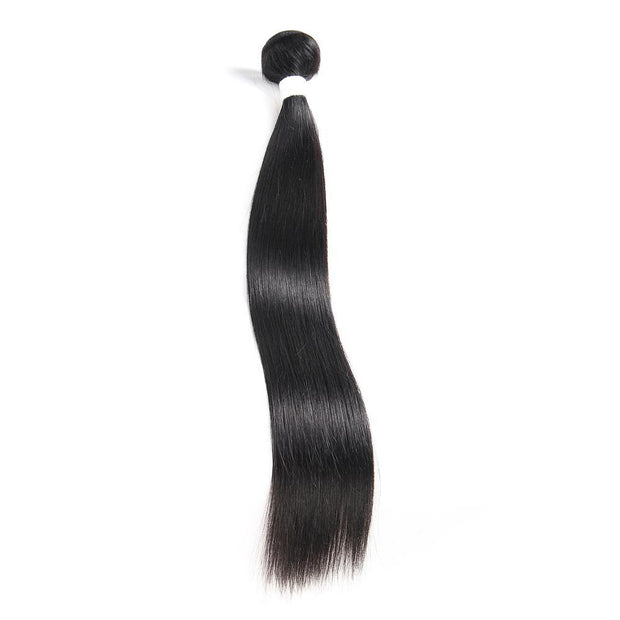 Colored 100% Human Hair Weave Straight Hair Bundle 8-26 inch (1B) (2611591839844)