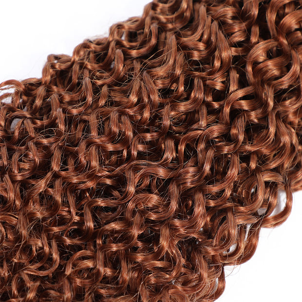 Kinky Curly Single Human Hair Bundles Light Brown (30#)