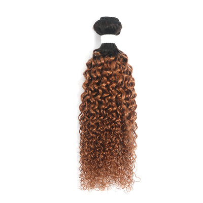 Ombre Brown Ginger Kinky Curly Hair Bundle (T1B/30) (4375115432006)