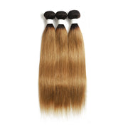 Straight Ombre 27 Three Human Hair Bundles 8''-26''