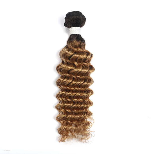Ombre Honey Blonde Deep Wave Human Hair Bundle (4330038296646)