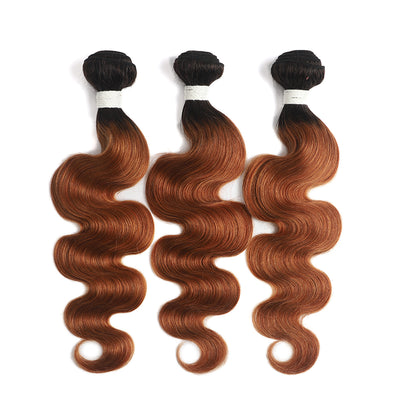 Ombre 30 Body Wave Three Human Hair Bundles 8''-26'' (4251423047750)