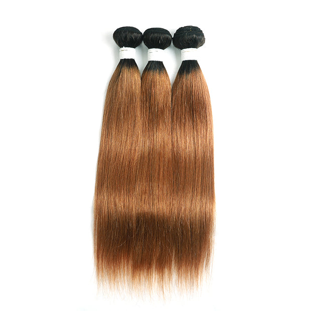 Straight Ombre 30 Three Human Hair Bundles 8''-26'' (4251440906310)