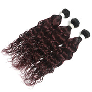 Ombre Red Wine Water Wave 3 Hair Bundles (T1B/99J) (4339220873286)