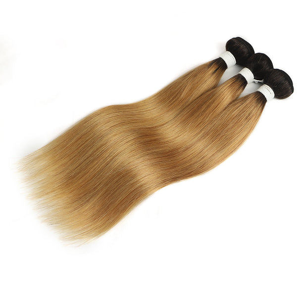 Straight Ombre 27 Three Human Hair Bundles 8''-26'' (4249234538566)