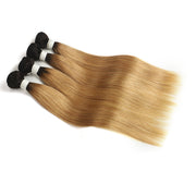 Straight Ombre 27 Four Human Hair Bundles 8''-26''