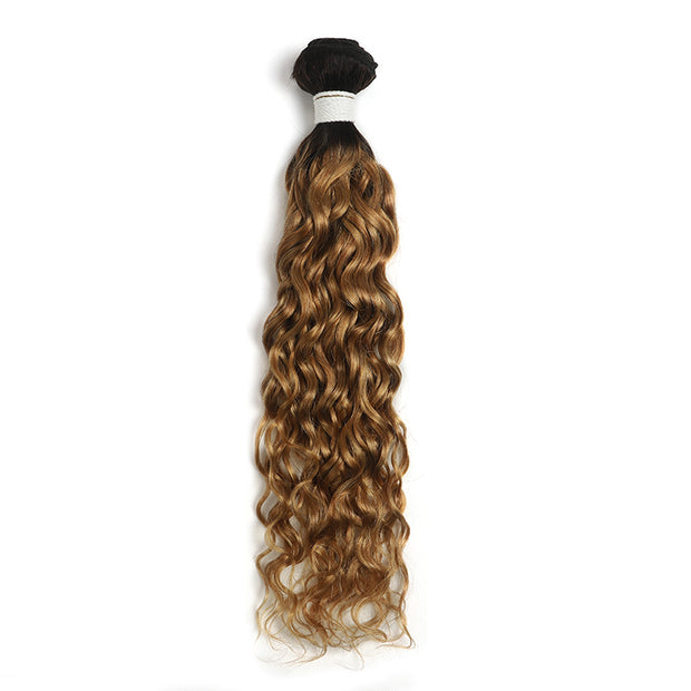 Ombre Honey Blonde Water Wave Human Hair Bundle (4330219667526)
