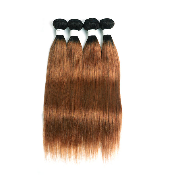 Straight Ombre 30 Four Human Hair Bundles 8''-26'' (4251442610246)