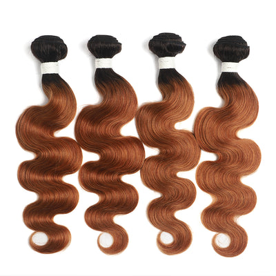 Ombre 30 Body Wave Four Human Hair Bundles 8''-26'' (4251424096326)