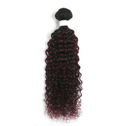 Ombre Maroon Red kinky curly Hair Bundle (T1B/99J)