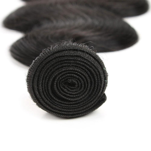 Colored 100% Human Hair Weave Straight Hair Bundle 8-26 inch (1B)