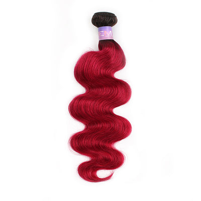 Ombre BURG Body Wave Human Hair Bundle 8''-26'' (3578753843300)