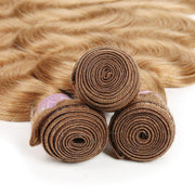 Colored 100% Human Hair Weave Straight Three Hair Bundle 8-26 inch  (27)