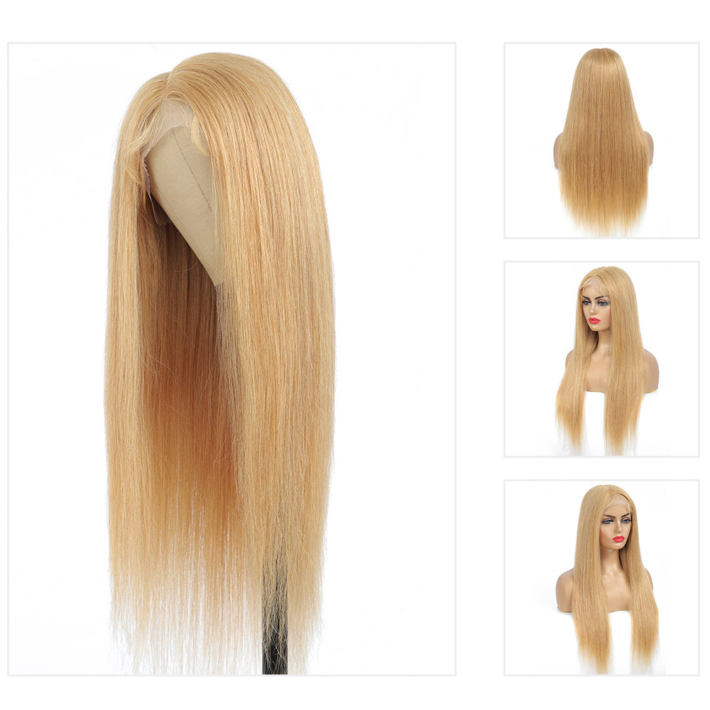 Kemy Hair Custom Honey Blonde T-part Lace wigs 16''-28'' (  27 )