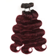 Ombre 99J Body Wave Three Human Hair Bundles 8''-26'' (3948180701254)