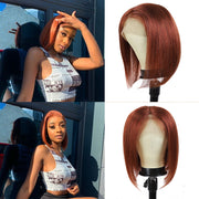 Kemy Hair Custom Honey Blonde Bob Lace Front wigs 10''-16'' (  27 ) (4439175233606)