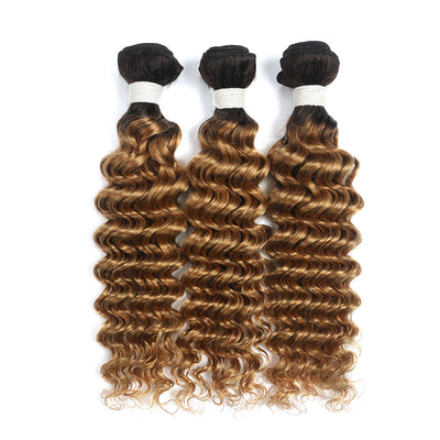 Ombre Honey Blonde Deep Wave 3 Human Hair Bundles (4330041147462)