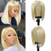 Kemy Hair Custom 613 Blond Bob Human Hair Lace Front wigs 10''-16'' (4438973743174)