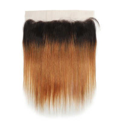 Straight Ombre 30 Human Hair 4×13 Free/Middle Part Lace Frontal(8''-20'') (4448534954054)