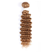 Deep Wave Single Human Hair Bundles Honey Blonde (27#)
