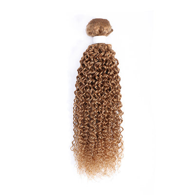 Kinky Curly Single Human Hair Bundles Honey Blonde (27#)