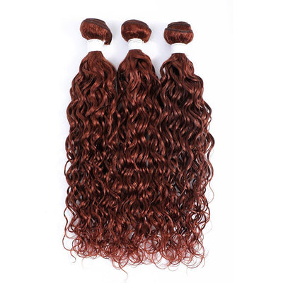 Auburn Red 3 Human Hair Bundles Water Wave (33#)