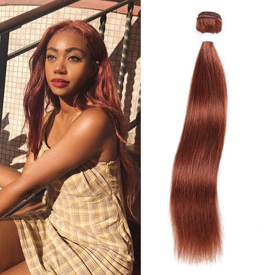 Kemy Hair Colored 100% Human Hair Weave Straight Hair Bundle 8-26 inch (33) - Kemy Hair
