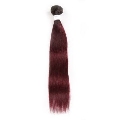 Straight Ombre 99J Human Hair Bundle 8''-26'' (3948213043270)