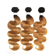 Ombre 27 Body Wave Three Human Hair Bundles 8''-26''