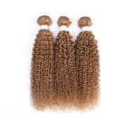 Honey Blonde 3 Human Hair Bundles Kinky Curly (27#)