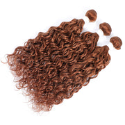 Kemy Hair Light Brown 3 Human Hair Bundles Water Wave (30#)