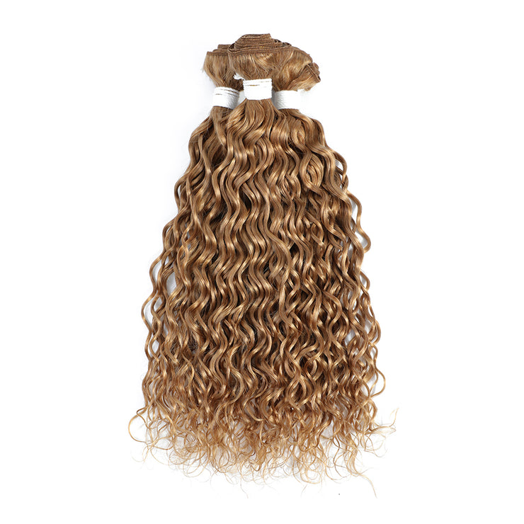 Honey Blonde 3 Human Hair Bundles Water Wave (27#)
