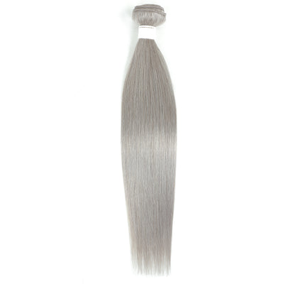 Kemy Hair Straight Silver Gray Remy Human Hair Bundle 10''-26'' (4595250036806)
