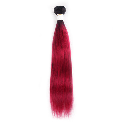 Straight Ombre BURG Human Hair Bundle 8''-26''