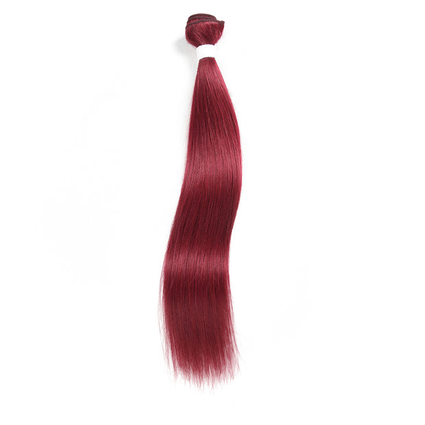 Kemyhair  1 Human Hair Bundle Straight (Burgundy) (2908621209700)