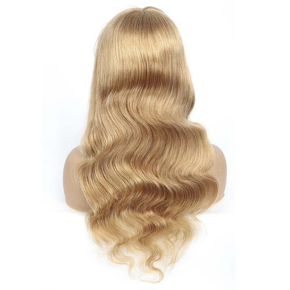 Honey Blonde Body Wave Human Hair Wigs with Bang 16''-28''(27#) - Kemy Hair