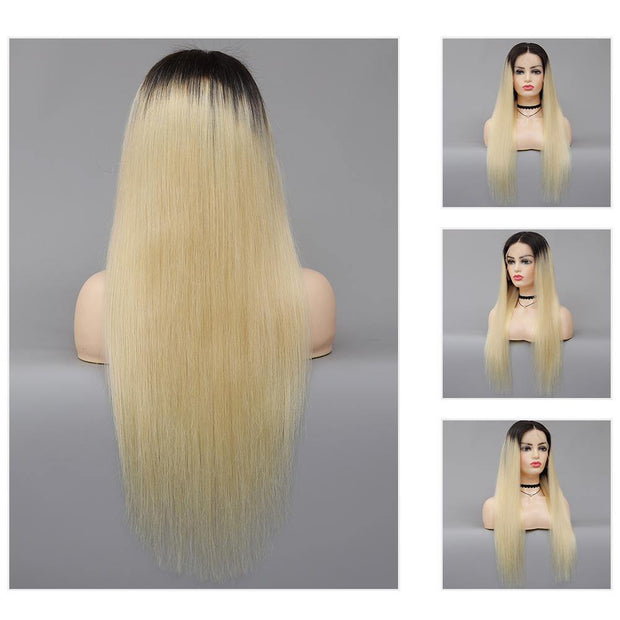 Kemy Hair Custom Ombre 613 Blond Human Hair Lace Front wigs 16''-28'' (4478608408646)