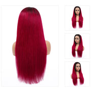 Kemy Hair Custom ombre Burgundy Human Hair Lace Front wigs 8''-26'' (4453911199814)