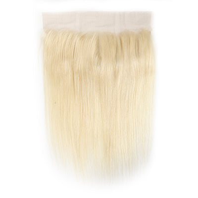 Straight 613 Blond Remy Human Hair 4×13 Free/Middle Part Lace Frontal(8''-20'') (4448585875526)
