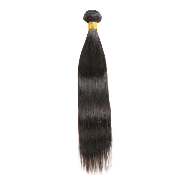 Nature Color Straight Human Hair Bundle (10''-26'') (4481420951622)