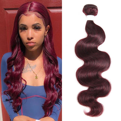 Kemy Hair Colored 100% Human Hair Weave Body Hair Bundle 8-26 inch (99J) - Kemy Hair