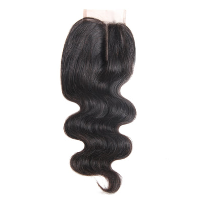 Nature Body Wave Remy Human Hair 4×4 Free/Middle Part Lace Closure(8''-20'') (4449470316614)