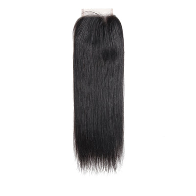 Straight Nature Human Hair 4×4 Free/Middle Part Lace Closure(8''-20'') (4449464090694)