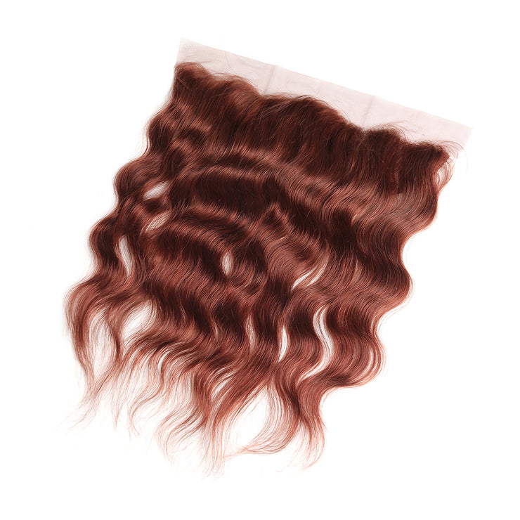 Natural Wavy 33  Lace Frontal 4×13 Free/Middle Part Human Hair(8''-20'') (4252335833158)