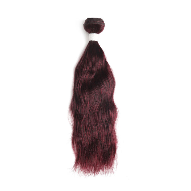 Natural Wavy 99J Human Hair Bundle (8''-26'')
