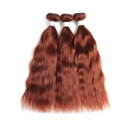 Natural Wavy  33 Human Hair 3 Bundles (8''-26'')