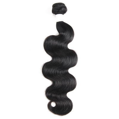 Colored 100% Human Hair Weave Body Hair Bundle 8-26 inch (1B)