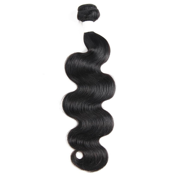 Colored 100% Human Hair Weave Body Hair Bundle 8-26 inch (1B) (2611910901860)