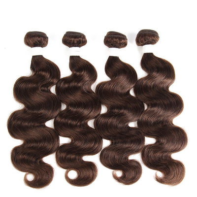 Colored 100% Human Hair Weave Body Wave 4 Hair Bundles 10-26 inch (4) (2826958700644)